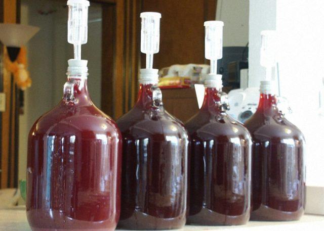 брожение вина в бутылях
