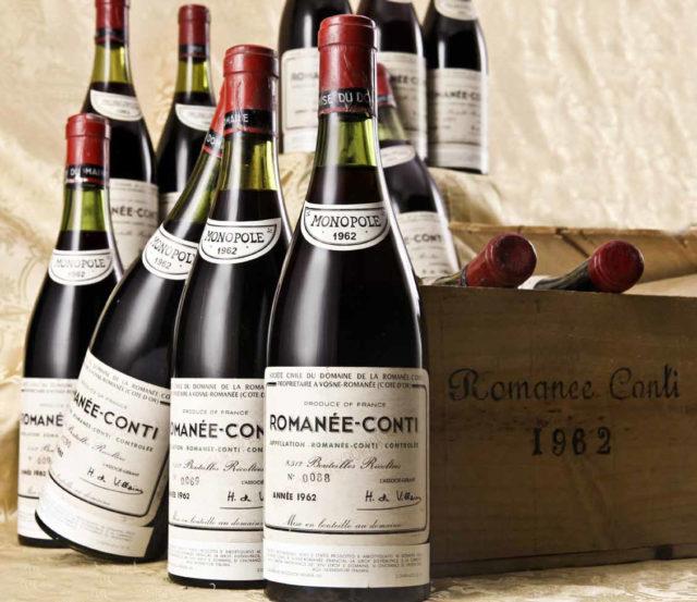 бутылки вина romane conti