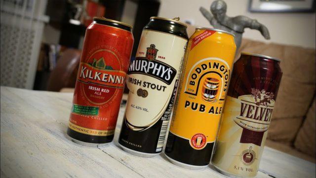 Разные виды пива с азотной капсулой