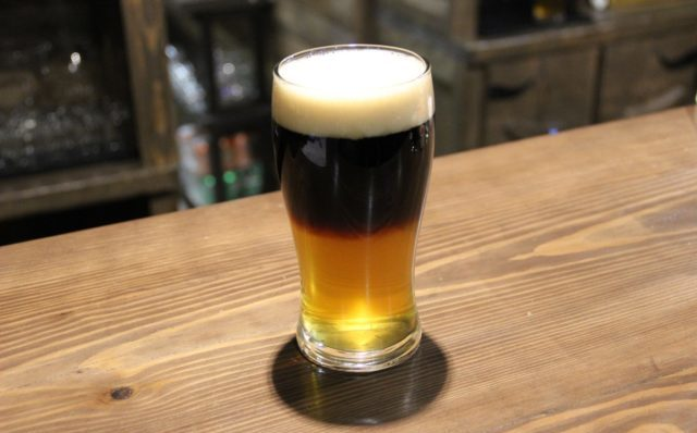 Резаное пиво в бокале