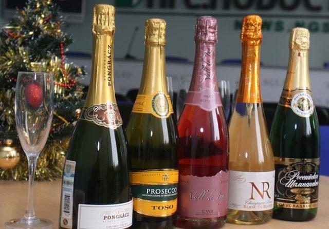 Бутылки разного шампанского