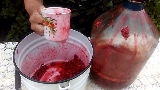 Приготовление вина из малины