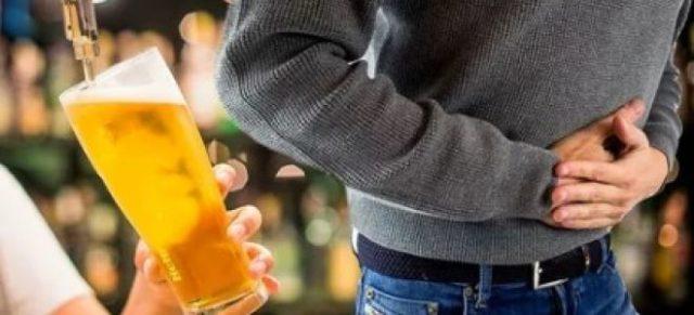 боль в животе от пива