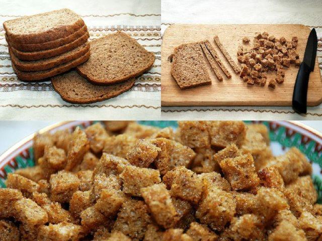 Сухарики из ржаного хлеба