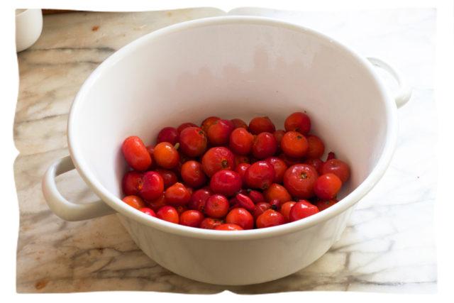 ягоды шиповника в тарелке